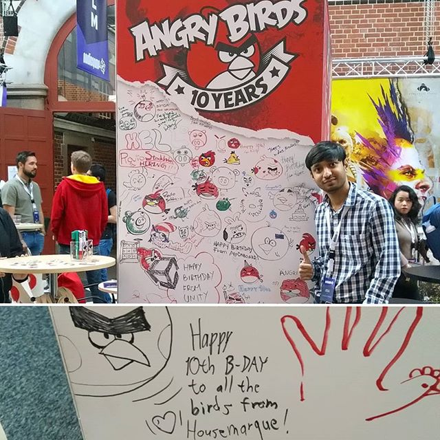 Happy 10th birthday Angry Birds! #hmqinstatakeover #ng19 #nordicgameconference #rovioentertainment #angrybirds #happybirthday