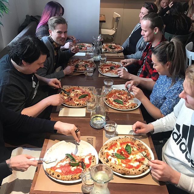Today we went to Capperi for lunch😻🍕 #pizza #hmqlife #hmqfamily #hmqinstatakeover #gamedev