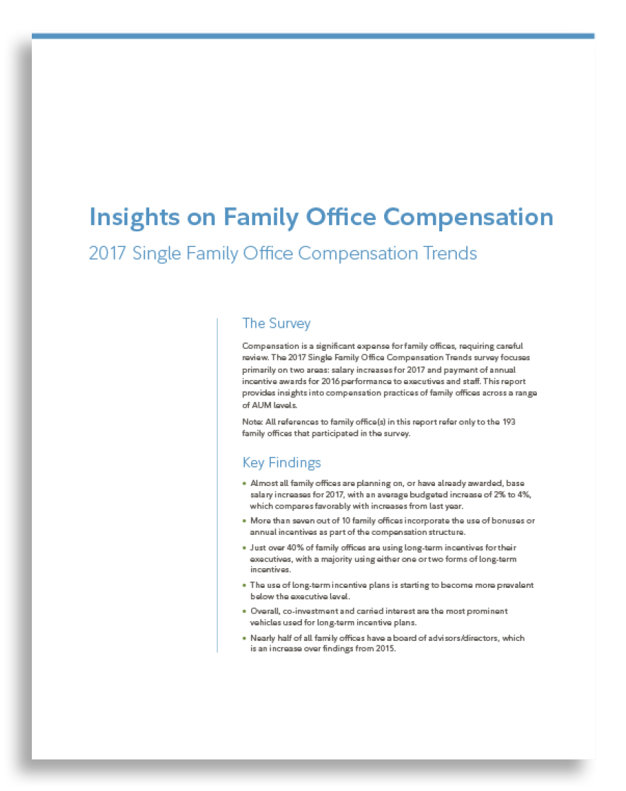 2017 Family Office Compensation Trends Survey   Conducted with Fidelity Family Office Services –  Published April 2017