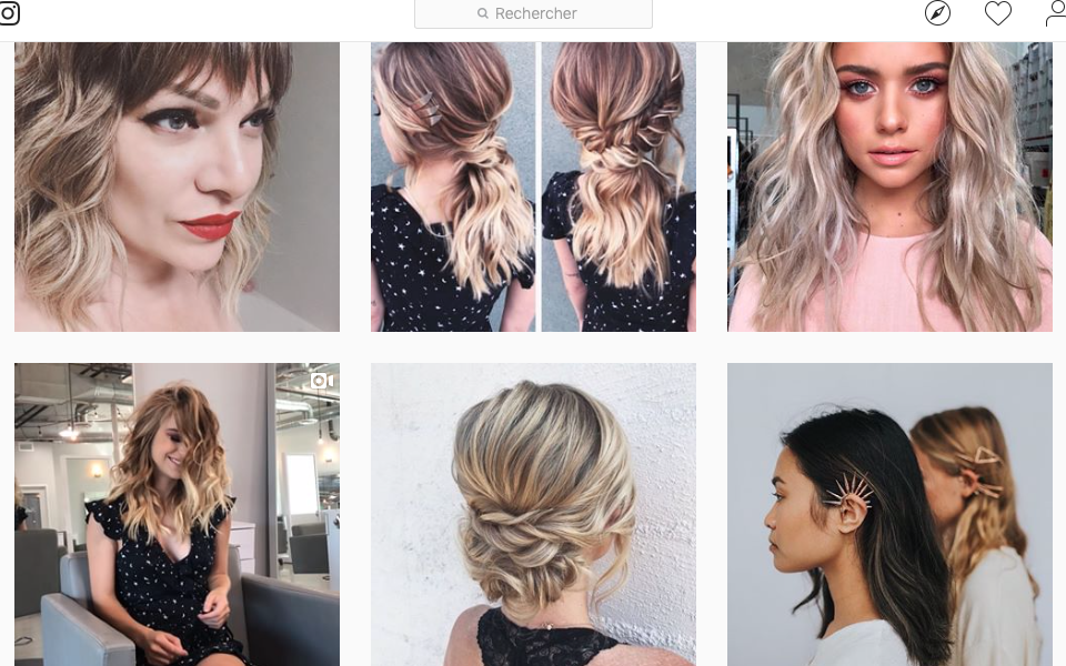 Heather's instagram  I mean, isn't she the best ? look at the different texture she brings out on her model's hair !