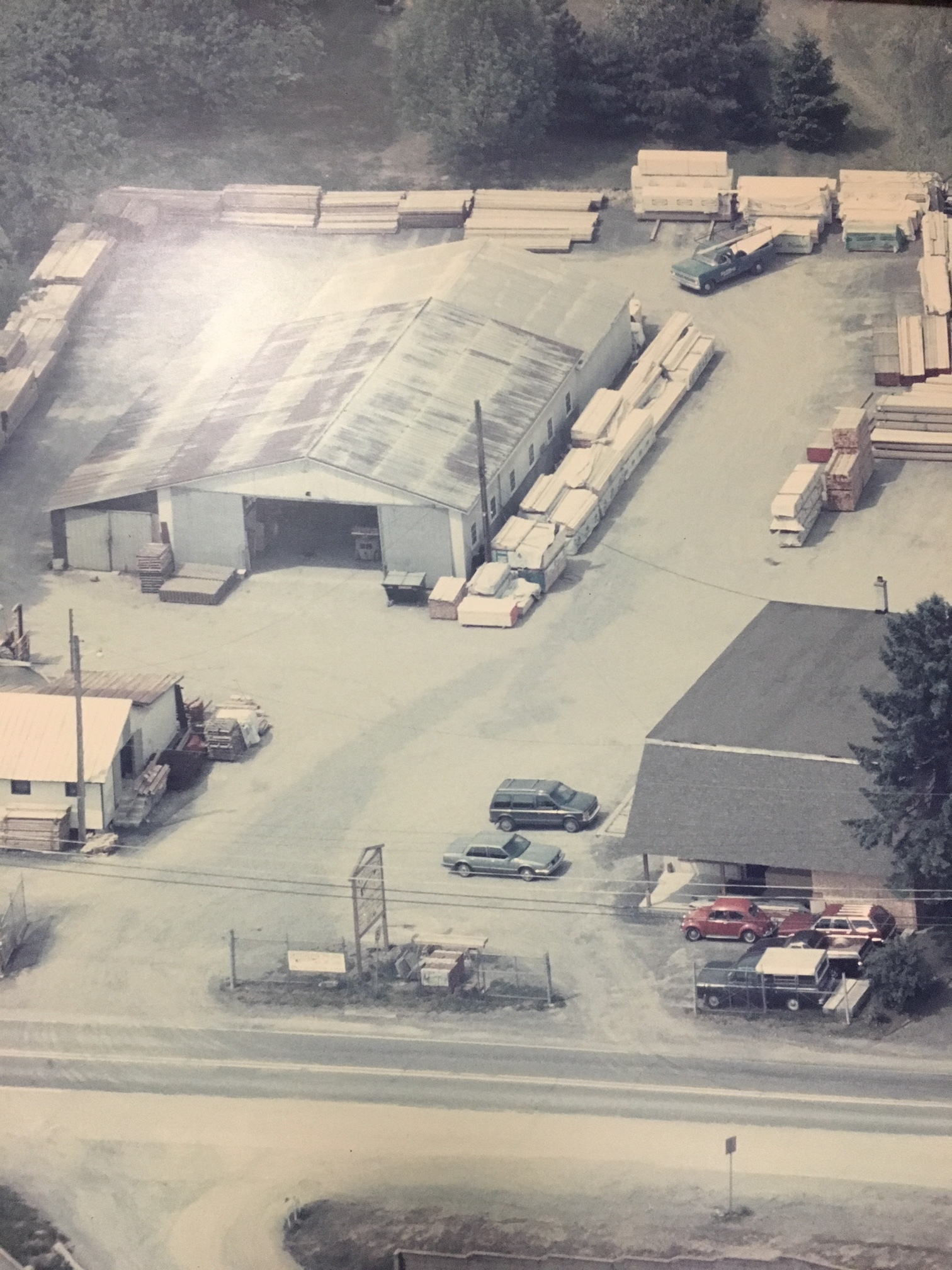 Aerial view of our location circa 1986.