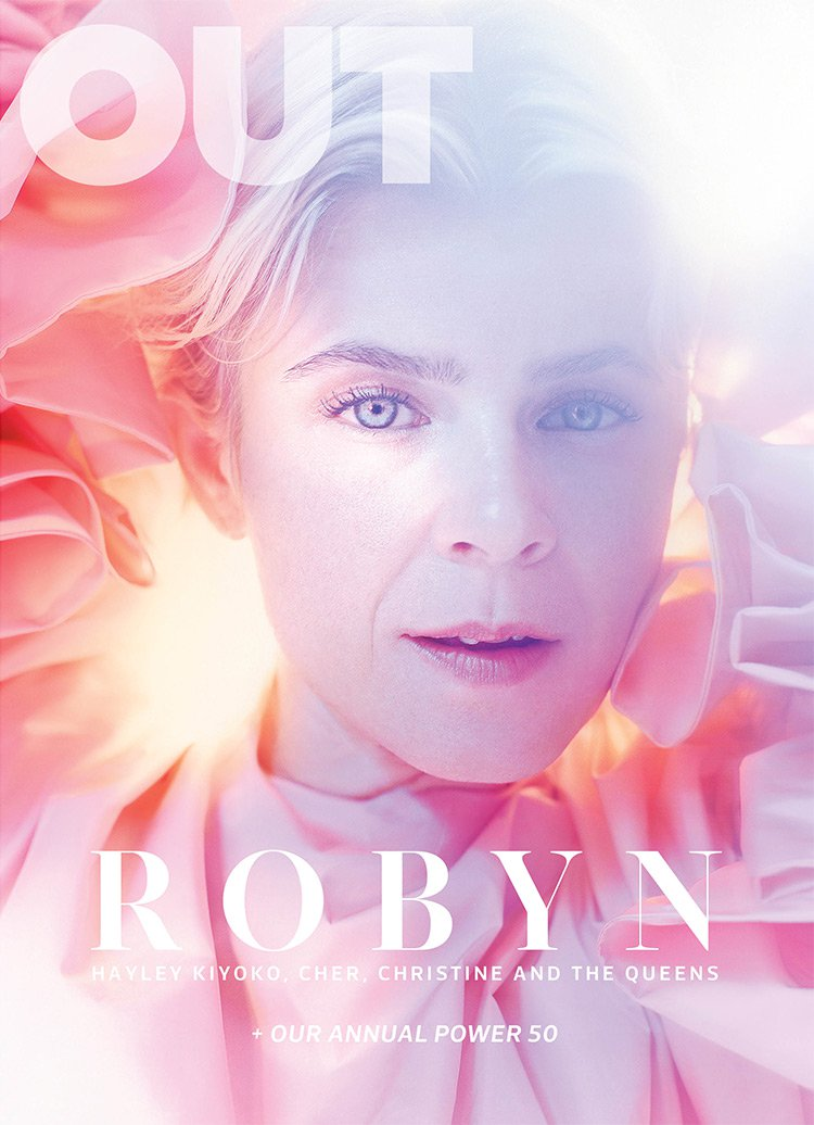 OUT Magazine  / Oct '18 issue . (Robyn / Women in Music. Photography by Fredrik Altinell)   CLICK THE IMAGE ABOVE TO VIEW THE ENTIRE ISSUE.