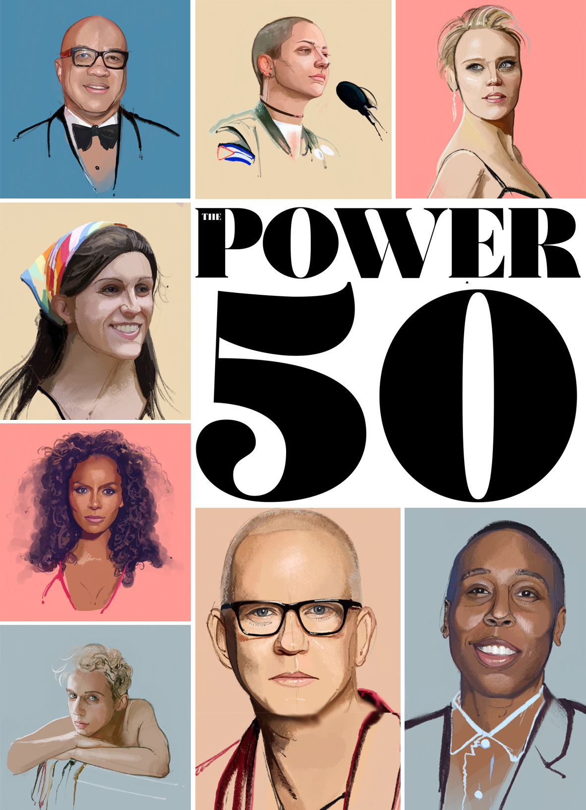 CLICK THE IMAGE ABOVE TO VIEW THE FULL 2018 POWER 50 PORTFOLIO . (Illustration by Fernando Monroy)