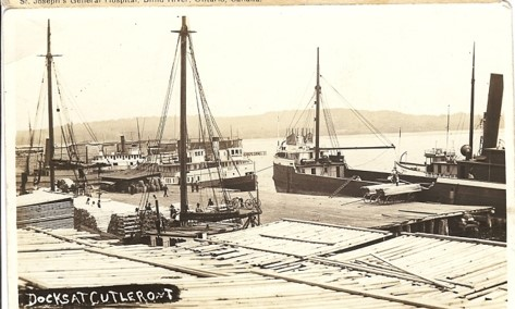 Docks on Aird Bay.