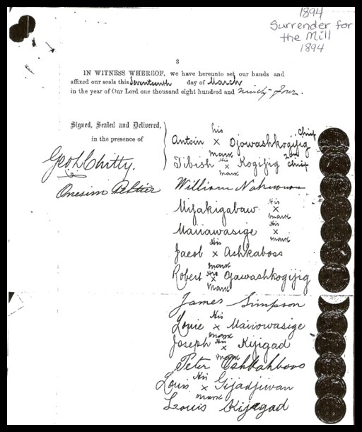 Mill Surrender Document.