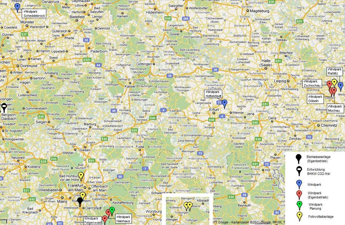 Karte der whs-Projekte