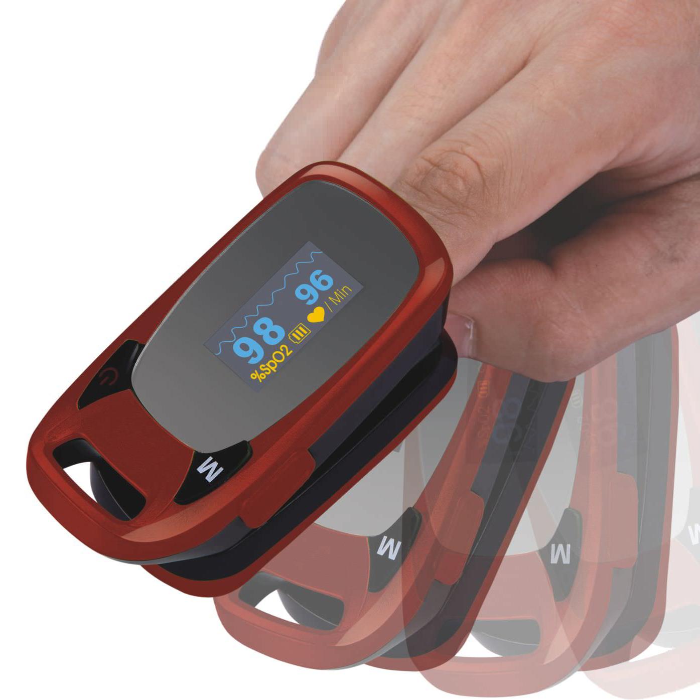 Identifica niveles de oxígeno en la sangre. -
