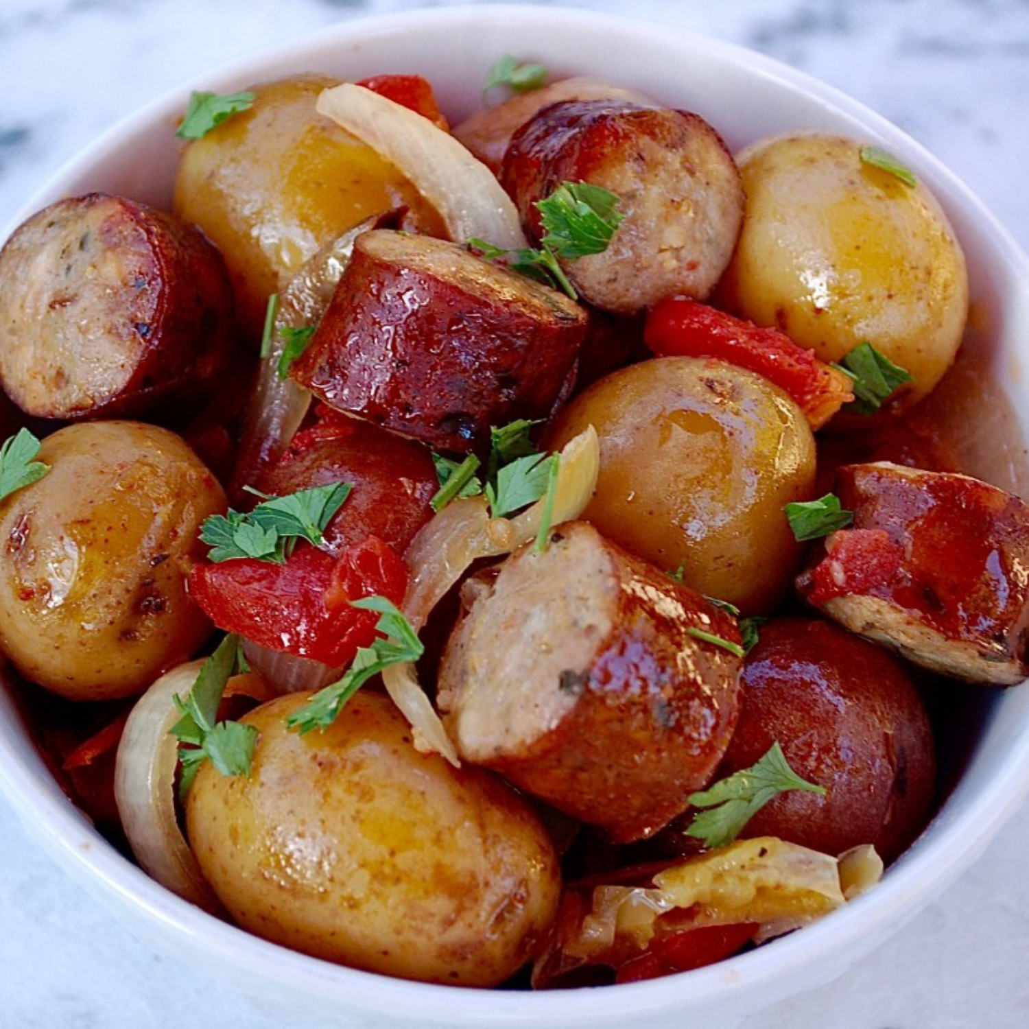 Slow Cooker Sausage and Potatoes - We couldn't help but add a slow cooker recipe to our list! With simple ingredients, this recipe is quick, healthy and bound to please any picky eater! Toss the ingredients together in the pot, and sit back and relax while it does the rest of the work!Get the recipe>>
