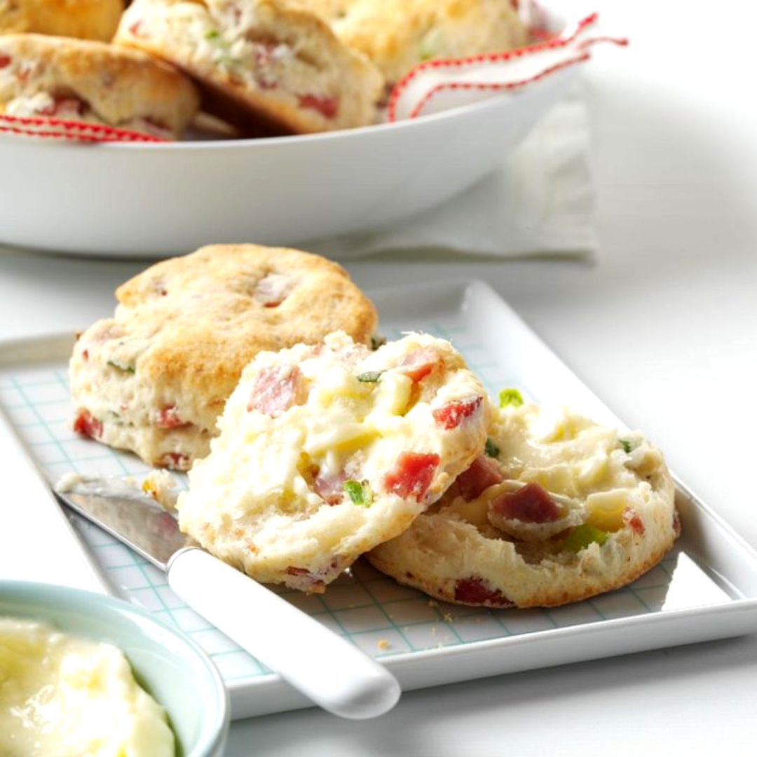 Ham and Green Onion Biscuits - Grab the kids and make memories! These warm, golden brown biscuits are perfect for Sunday mornings at home.Get the recipe>>