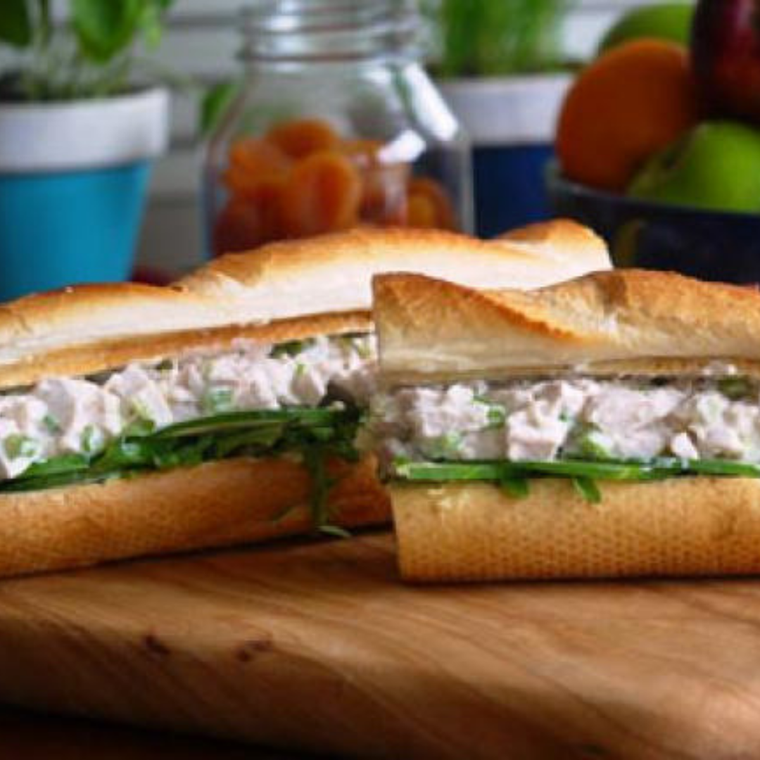 Chicken Baguette - Sometimes a simple sandwich just doesn't do the trick. Why not elevate your picnic experience with this chicken baguette recipe? Pro tip: to keep the bread from going soggy in transport, pack the prepared chicken in a reusable container, and build your sandwiches at the picnic spot. Get the recipe>>