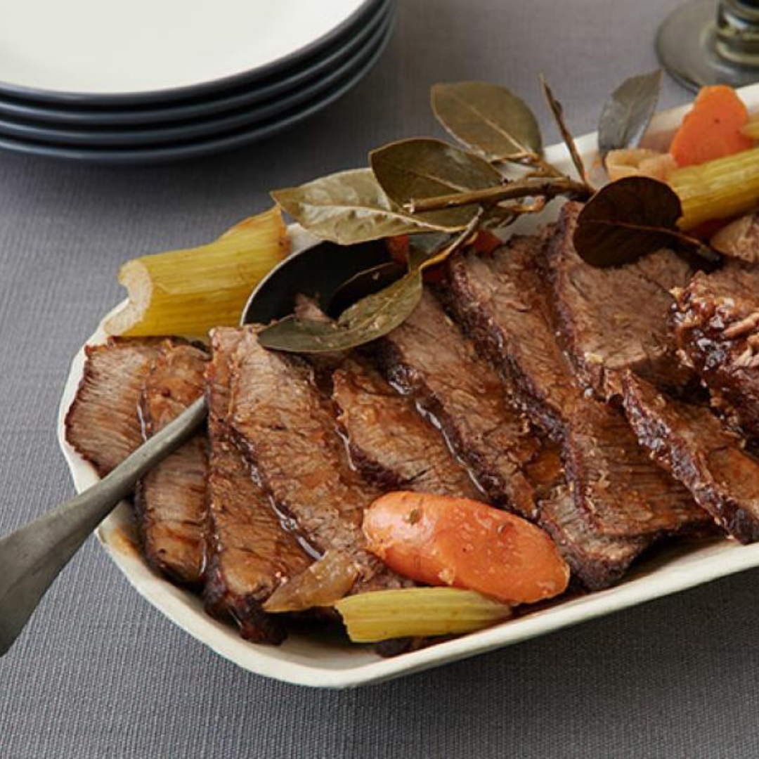Slow Cooker Pot Roast - The thick gravy in this recipe will ensure the meat comes out tender and the veggies are filled with flavour. Consistency is the key to this dish!Get the recipe>>