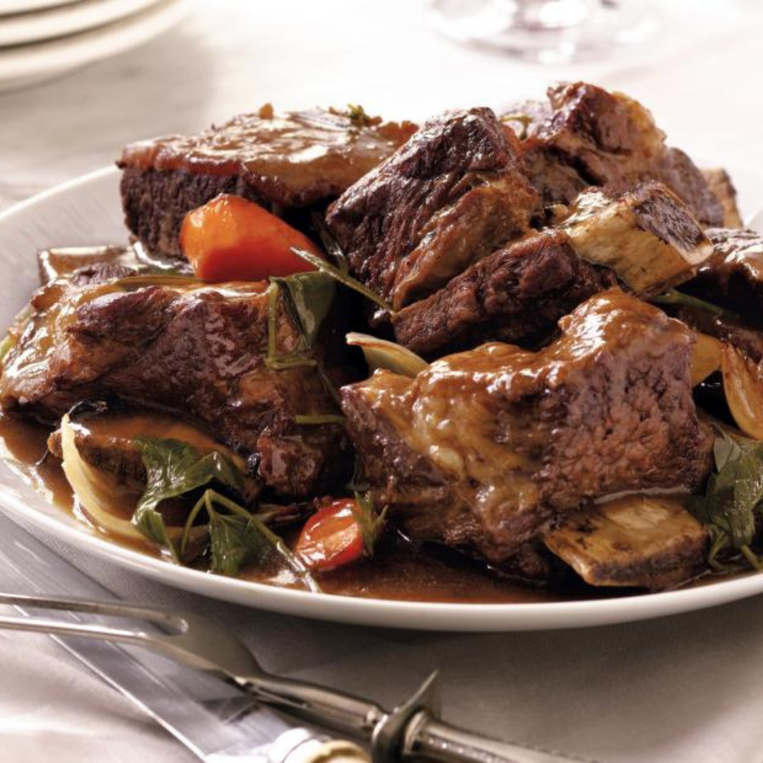 Short Ribs + Garden Vegetables - Caramelized onions, crisp garden veggies, and juicy rib meat infused with fresh spices that simply falls off the bone. That is the definition of delicious!Get the recipe>>