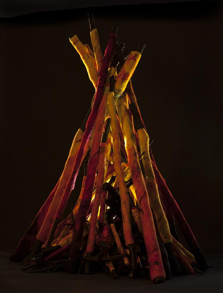 """""""Bonfire"""" by Barbara Cade©"""