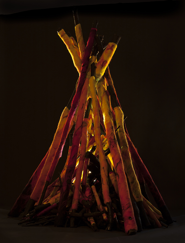 """""""Bonfire"""" by Barbara Cade ©"""