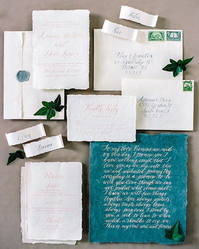 Believe it or not, there is a lot of technique involved in printing stationery and many different methods, especially when it comes to printing items like wedding invitations. Below are some possibilities to consider for your special day! ⠀⠀⠀⠀⠀⠀⠀⠀⠀ Letterpress Letterpressed invites have a gorgeous tactile quality that is hard to beat. This style of printing uses a centuries-old technique in which ink is applied to a raised plate design and then pressed into paper, resulting in a wonderfully textured impression. ⠀⠀⠀⠀⠀⠀⠀⠀⠀ Calligraphy Opt for classic calligraphy if you're looking for something unique and artisanal. A skilled calligraphist will have special tools and ink to design your invites by hand! To accommodate for larger guest counts on invite suites, most calligraphers will design a master invite then digitally scan and be able to print for a larger production. Smaller scale and custom sizing are usually produced by hand. ⠀⠀⠀⠀⠀⠀⠀⠀⠀ Vellum Translucent vellum paper is pretty, versatile and comes in a spectrum of colors and patterns. Printing on vellum won't break the bank, and the design possibilities are endless. We suggest using it to give your stationery a style boost, adding luxe layers and dimension to your invitations! ⠀⠀⠀⠀⠀⠀⠀⠀⠀ What is your favourite invitation style? Do you have questions about which printing direction to take? Feel free to pick our brains – drop us a line at info@jacquelinerae.ca ⠀⠀⠀⠀⠀⠀⠀⠀⠀ Photography @miltonphoto Designer and Styling @jraeweddings Florals and Design @fallforflorals Cake and Baked Goods @lovingly.sweet Calligraphy and Stationery @debbiewongdesign Rentals @modernluxerental Makeup @somethingborrowedbeauty Hair @jliaoo.hair Gown @blushandravenyyc Model @ashlalondee Venue @teatrogroupweddings @barondeau . . . . . #calgaryweddingplanner #mountainwedding #calgarybride #yycbride #yycweddingplanner #yycwedding #rockieswedding #jacquelineraewedding #calgaryweddings #calgaryweddingstylist #rockiesweddingplanner #yycweddings #calgarywedding #yyc #alberta #banffweddingplanner