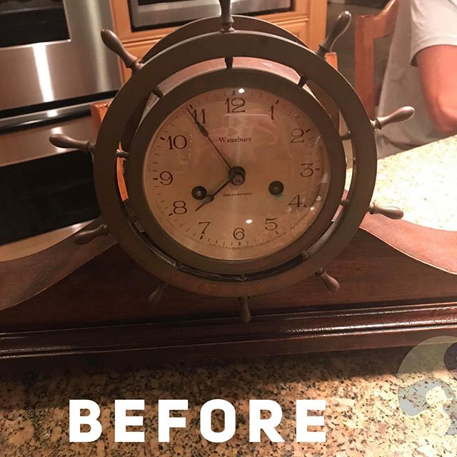 Thank you, @corsopassaretti for entrusting me with this beautiful heirloom! 🕰  It's going to look absolutely perfect in your  beach house.  Uncle Arthur would be so happy! 💕💕💕 www.uglyducklingfurniture.com