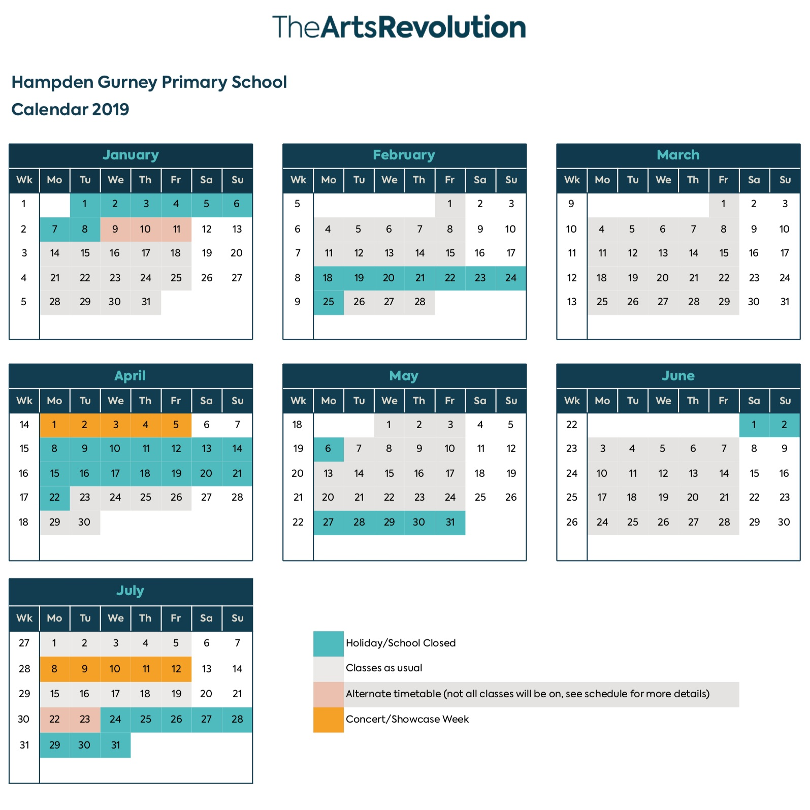 Calendar - Click to download