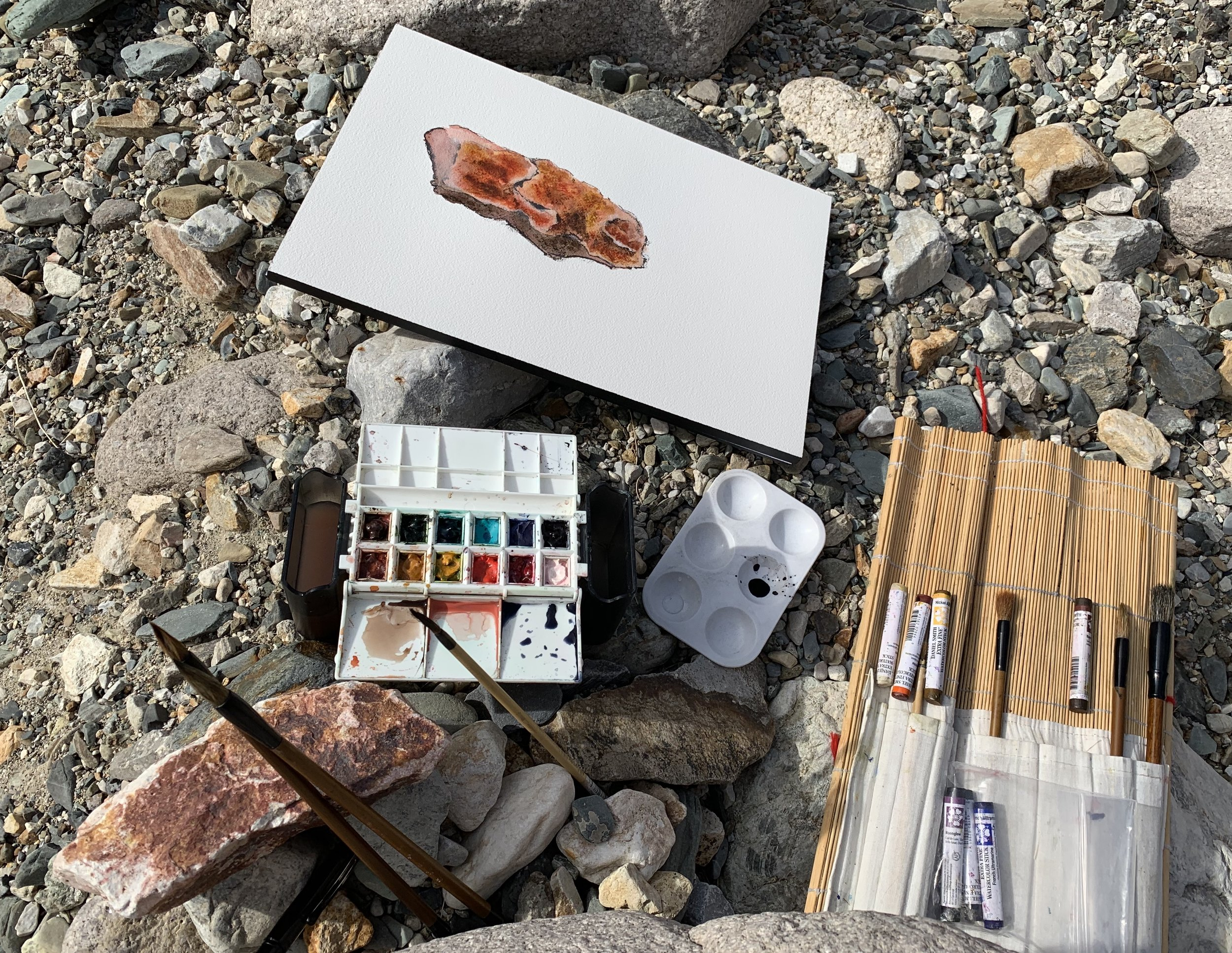 Painting up Hanapau Canyon Road, Death Valley NP