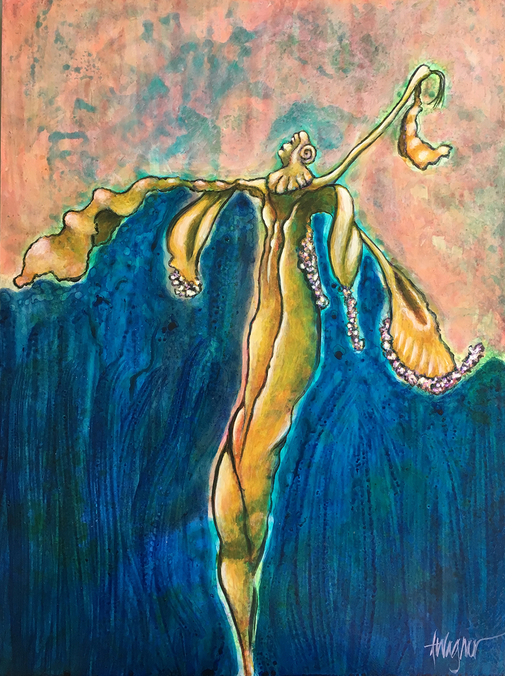 Dried Lily Woman by Annette Wagner will be in the Women/Strength Exhibit.