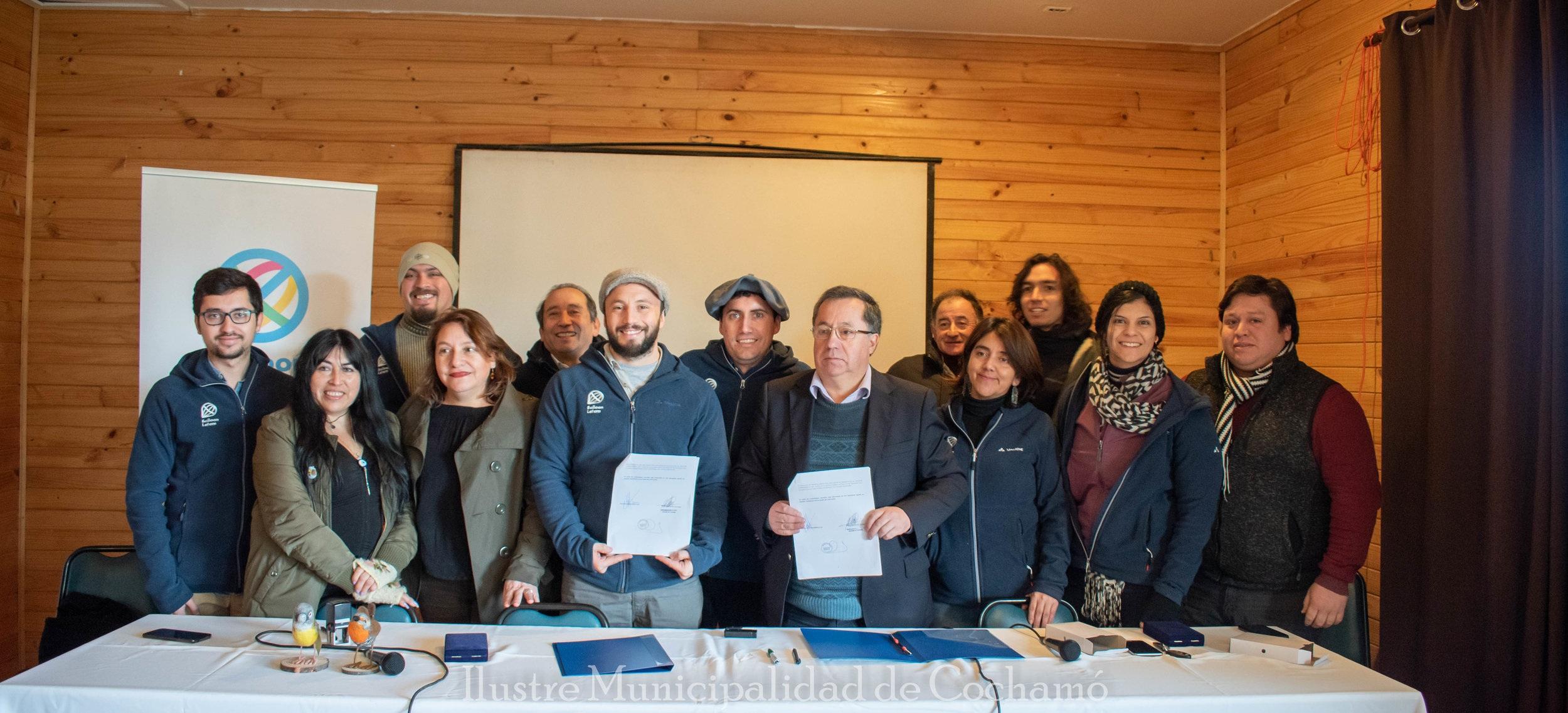 ¡A prepararse Cochamo! equipo Balloon Latam, Karün y Municipal de Cochamó, todo reunidos por una misma causa