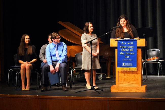 Thespian Ceremony. Credit: Michael Feldser.