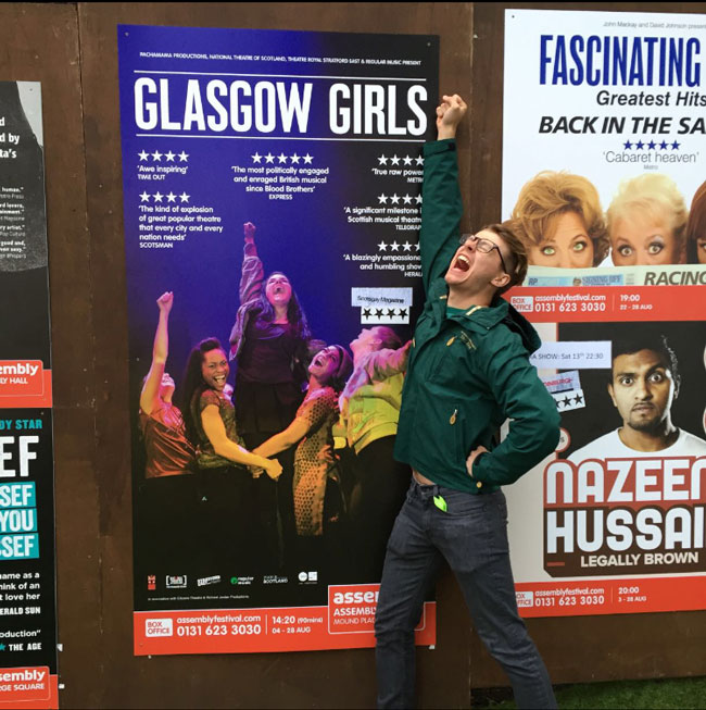 Assistant Director, Drew, filled with excitement after seeing Glasgow Girls the Musical.
