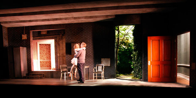 Sophia Anne Caruso and Frank Wood in THE NETHER. at MCC. Photo Credit and Scenic Design: Laura Jellinek.