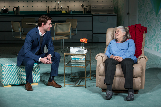 Feature Photo: Noah Bean and Lois Smith. Credit: Jeremy Daniel, Playwrights Horizons.