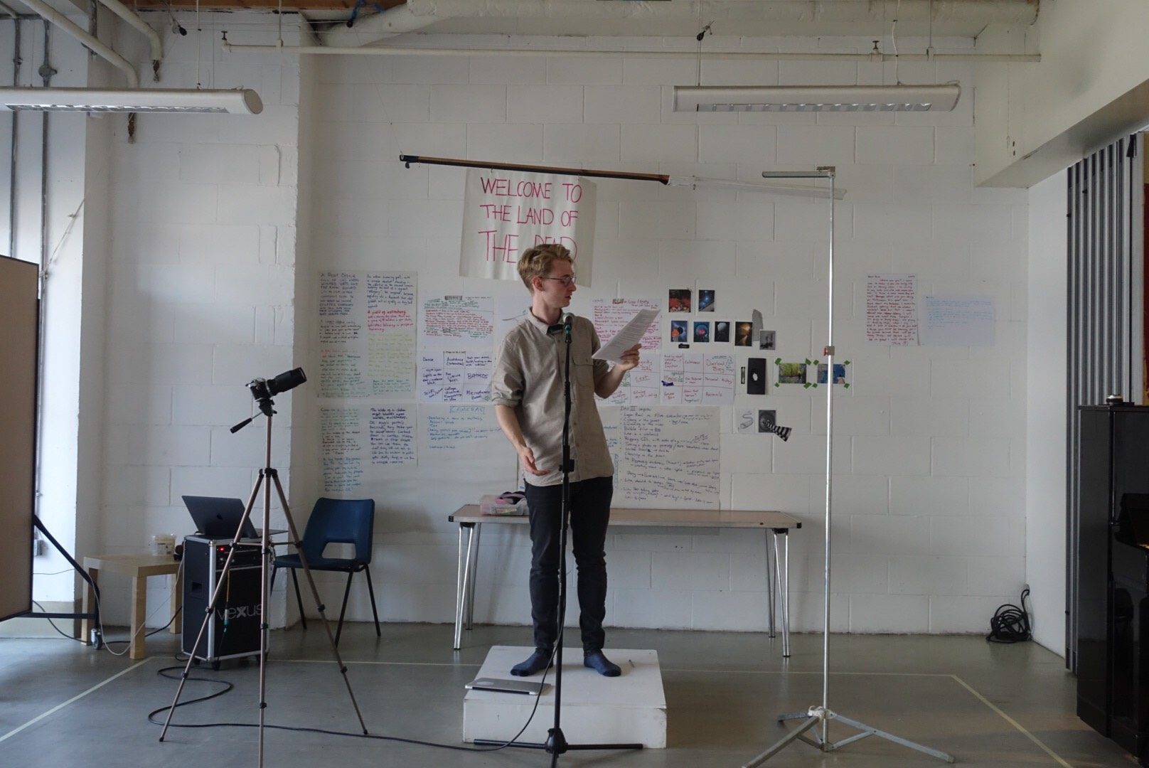 Jack Bradfield in the rehearsal room. Photo: Georgie Hook