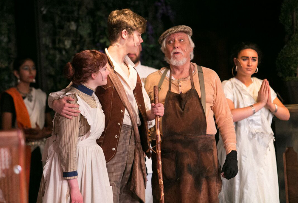 Aidan Alford, left, as Martha, Jordan Graham as Dickon, Ron Dauphinee as Ben and Hannah Culpepper, right, as Ayah. Credit: Drew Francis