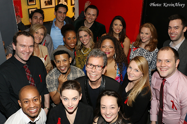 Bill and the cast take a group shot before the show.