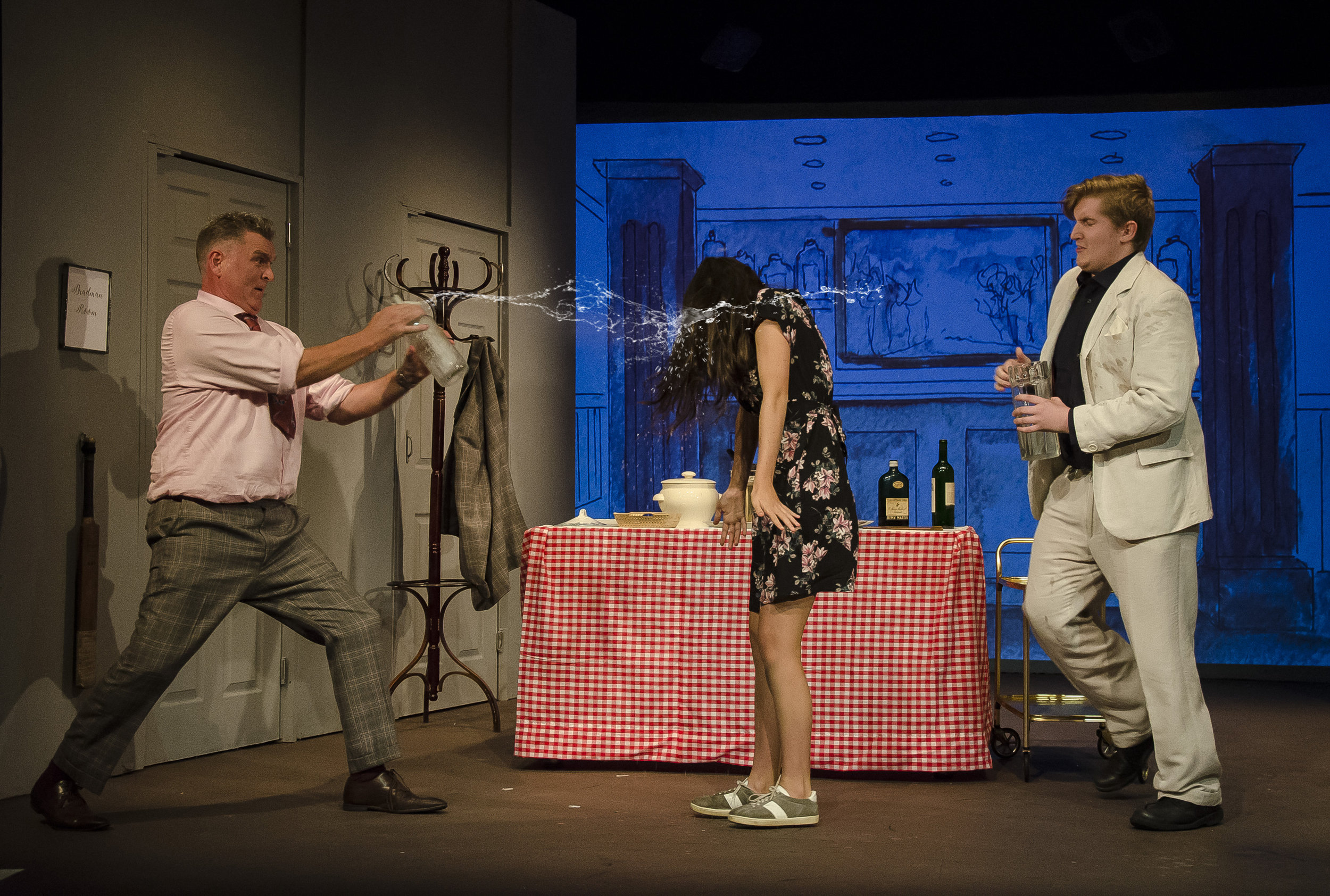 Photo from Market Harborough Drama Society's production of  One Man, Two Guvnors .