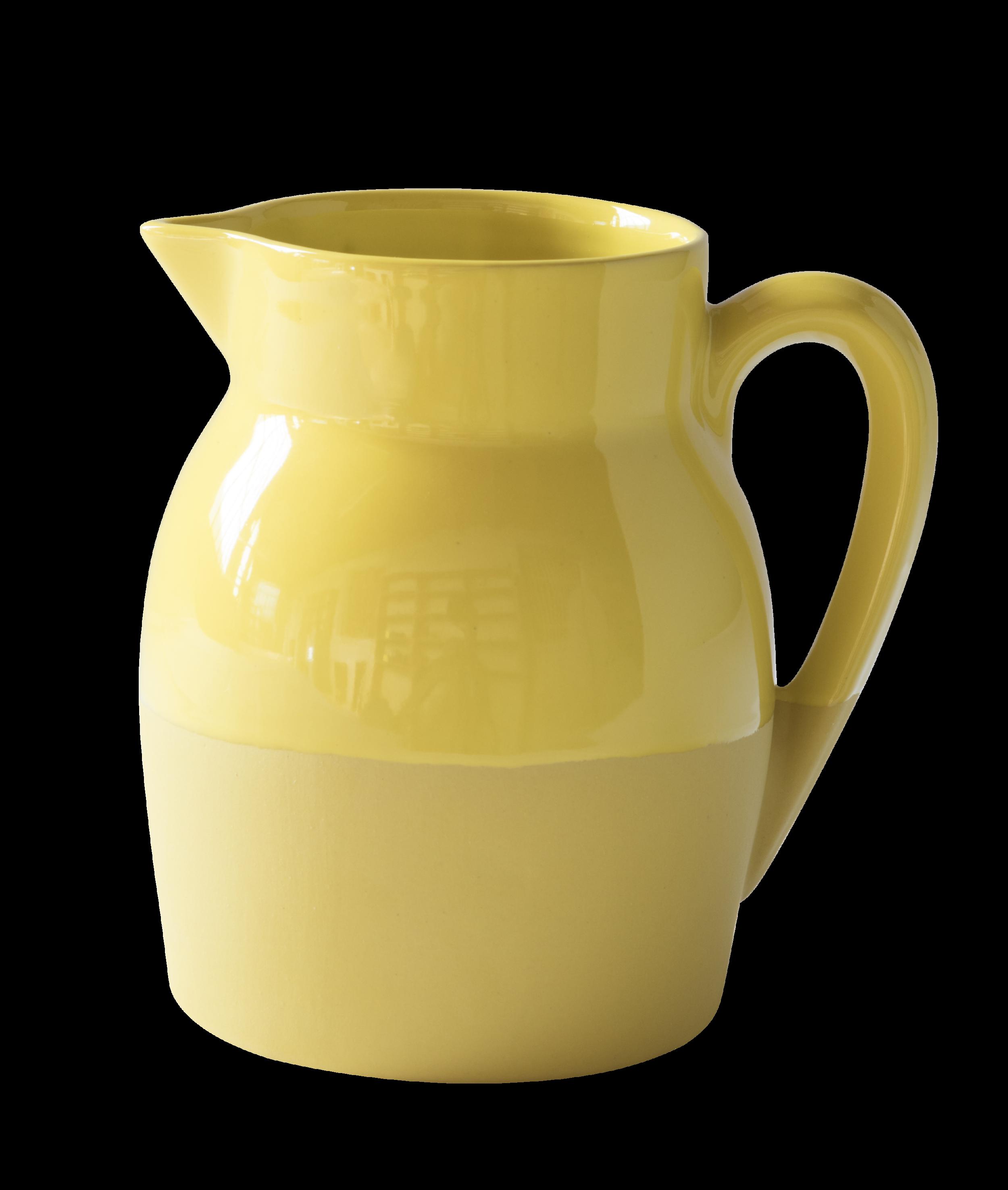 Pichet d'eau - Jaune moutarde