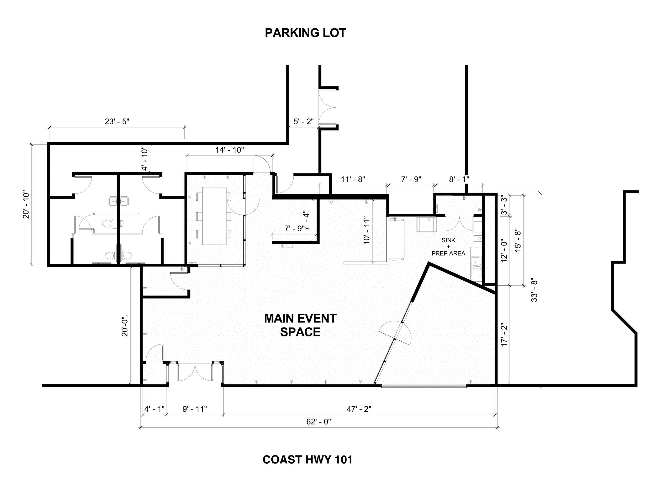 Floor Plan & Measurements - 1010 S. Coast Hwy
