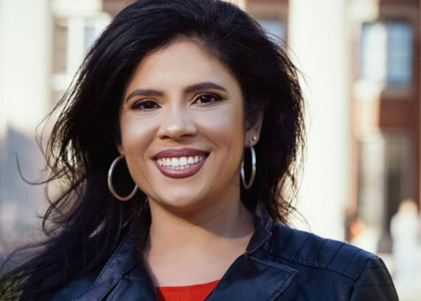 Credit to Sampan:  Alejandra St. Guillen is running for the Boston City Council's at-large seat. (Image courtesy of Byron Eubanks.)
