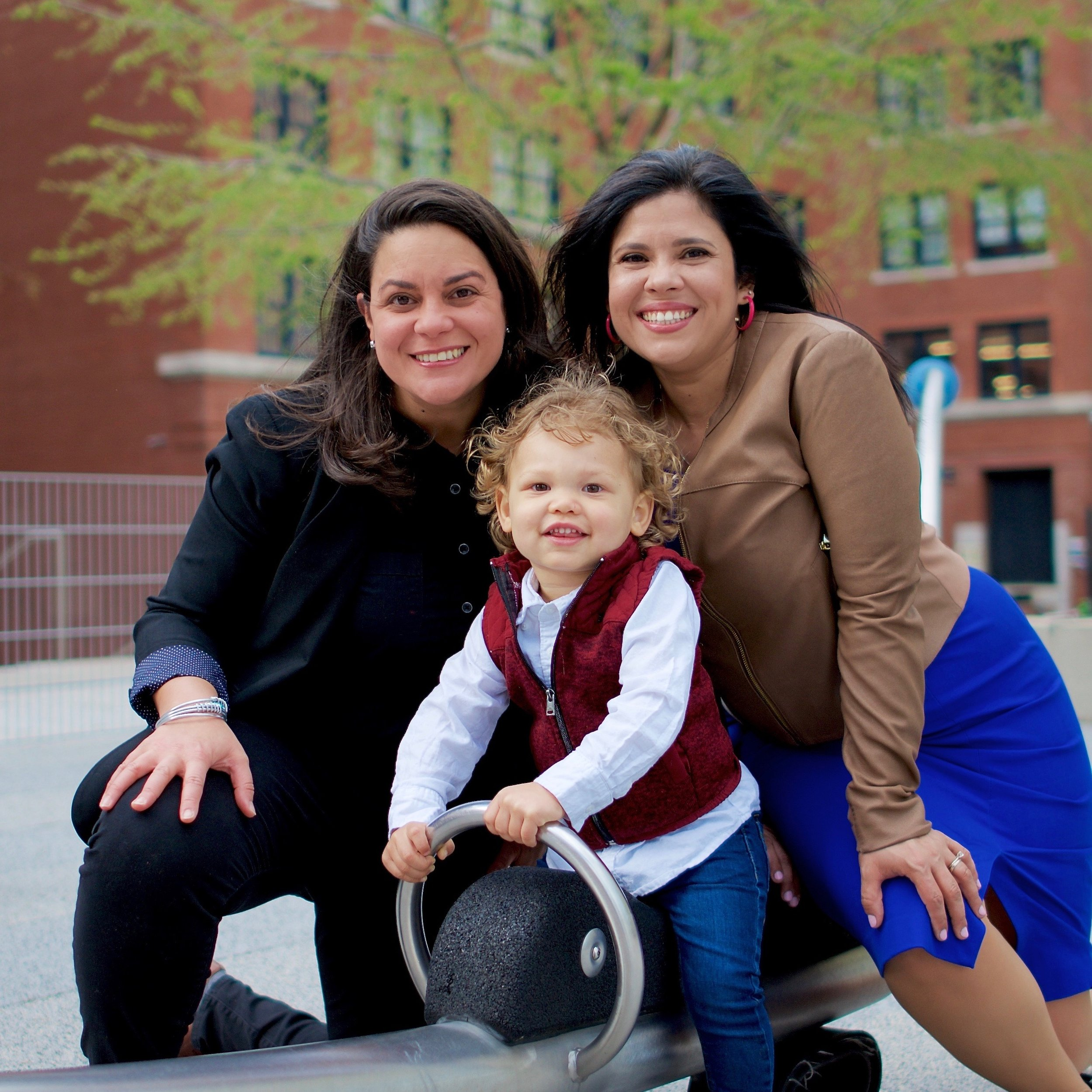 Alejandra St. Guillen (right) and Josiane Martinez (her wife) and their son;  Photo: Campaign to Elect Alejandra St. Guillen