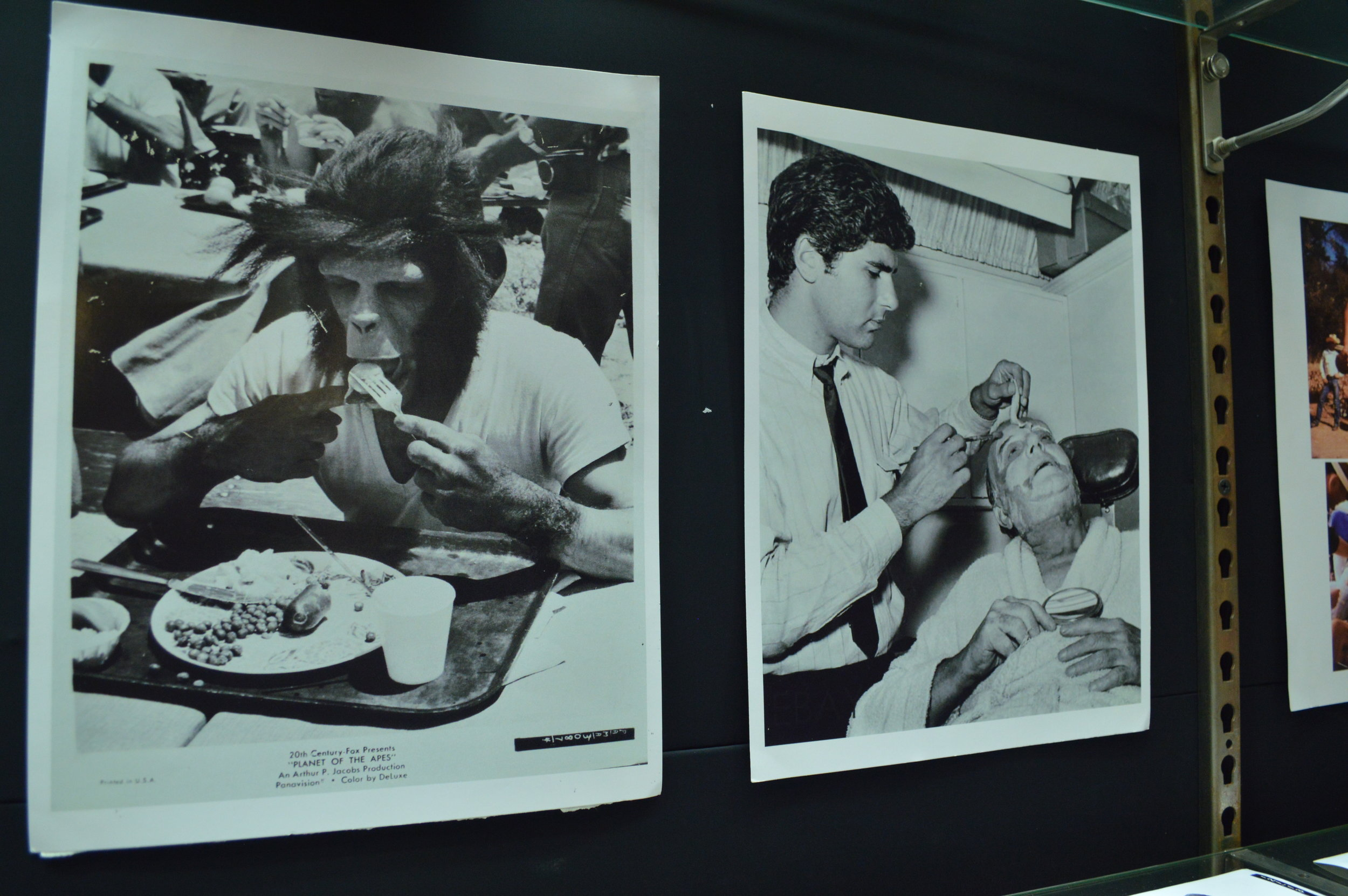 Rare behind the scenes photos on Planet of the Apes