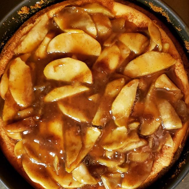 Who wants some caramel apple cheesecake today with our #tgif #fishfry? Yummmmmm