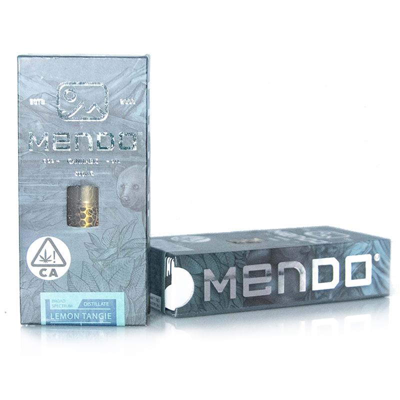 Mendo Cannabis Co.,  Lemon Tangie  0.5g Vape Cart, Outdoor Light Dep