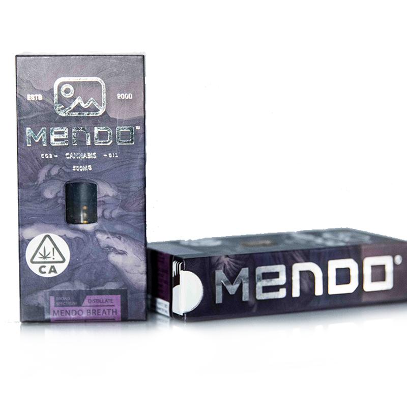 Mendo Cannabis Co.,  Mendo Breath  0.5g Vape Cart, Outdoor Light Dep