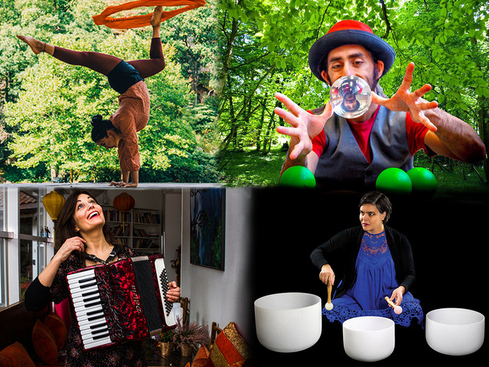 Artistene i Barnas Musikkteater spiller forestillinger innen musikk, teater, sjonglering og balansekunst Foto: Hielke Gerritse og Tobias Hole Aasgaarden