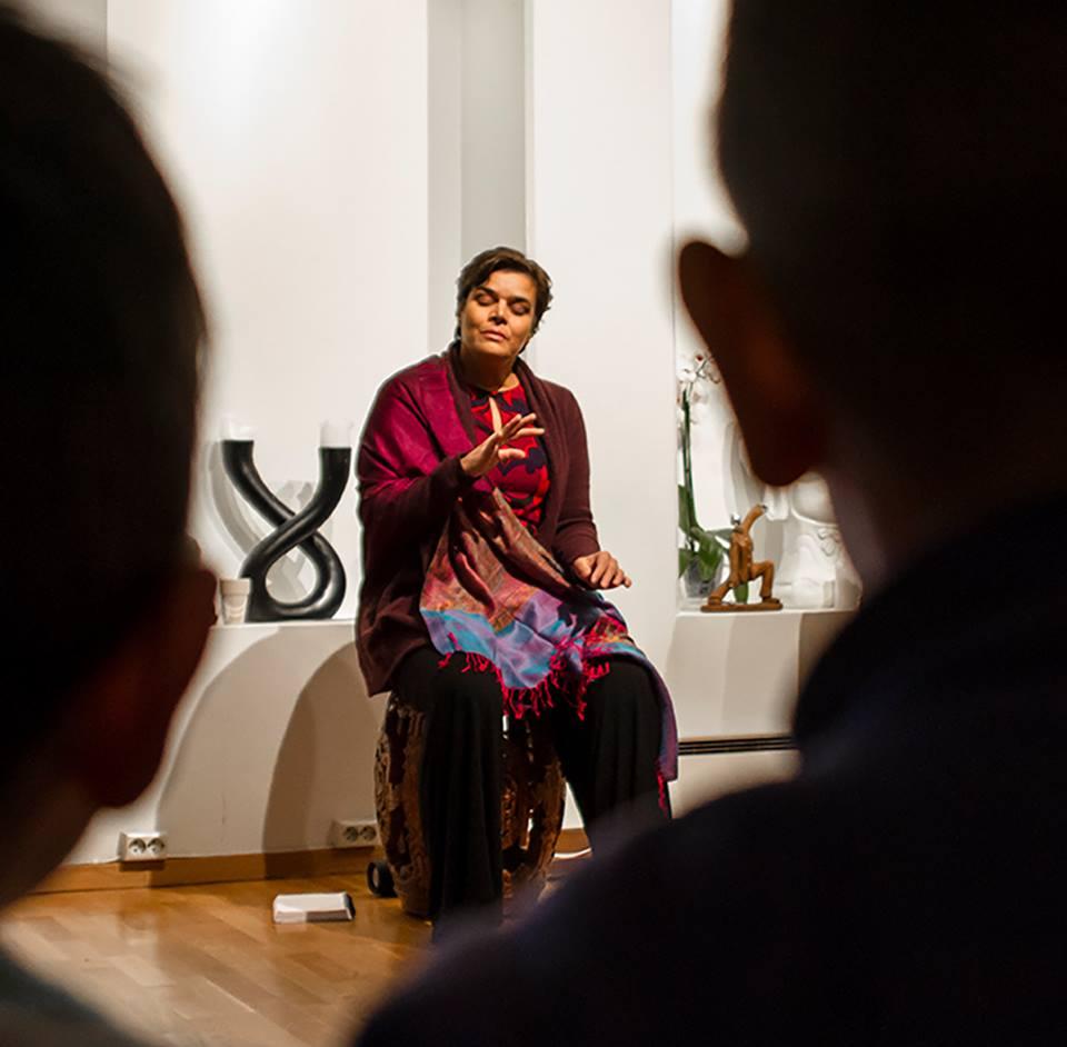 Sonia Loinsworth i konsert for barn i Oslo. Foto: Hielke Gerritse