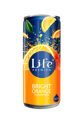 Life Pomorandža limenka 0,25L