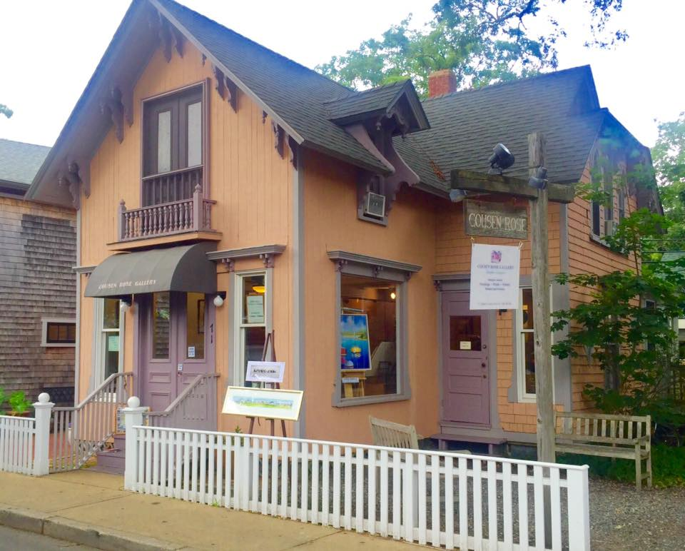 "Cousen Rose Gallery - Owned by Ms. Zita Cousens, Cousen Rose Gallery is ""more than just a gallery"". Conveniently located at the end of Circuit Avenue in Oak Bluffs, Zita's gallery is a must see while summering on the Vineyard."