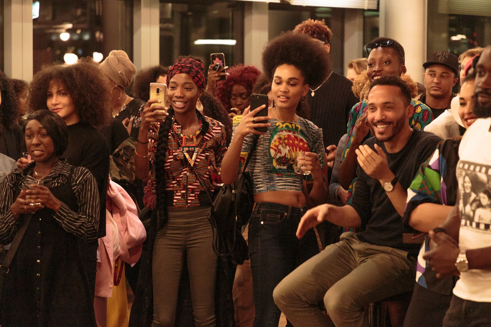 The room was full of beautiful Black people, attending the first CURL Ambassador Event, (C) Philipp Primus