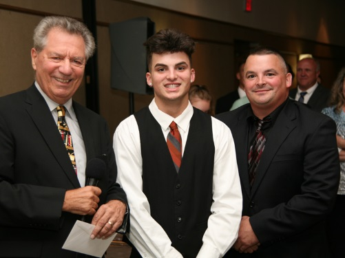 Judge Perk, Independence Bank Awardee Vincent Zubal & his father Cleveland PO Donald