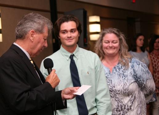 Judge Perk, Ralph Perk Memorial Awardee Ryan McLain & his mother Lisa