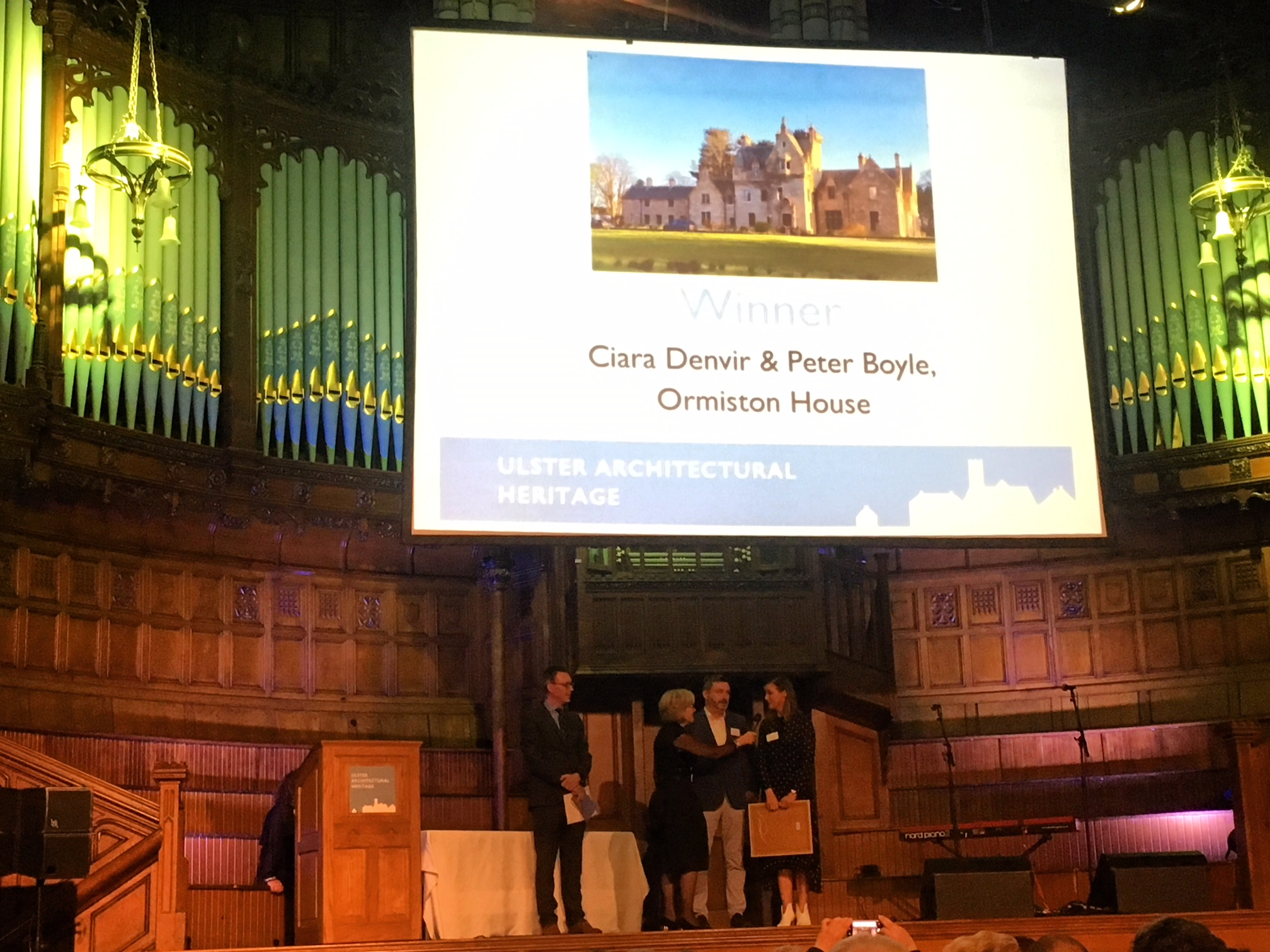 Picking up the award in the stunning Guildhall Derry