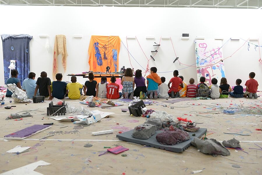 """Playground,"" an experiential art-making event and installation for area school children."