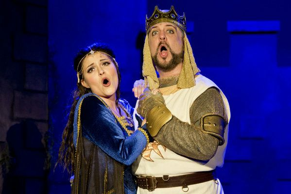 """Lady of the Lake in """"Spamalot"""" at Resident Theatre Company"""